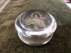 Antik ezüst púdertartó / pudrié