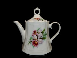 Német porcelán gyönyörű orchidea mintás kávés kanna.