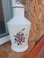 Extra Gyönyörű Bonyhádi rózsás virágos  Ceglédi kanna, kanta, paraszti dekoráció Gyűjtői szépség