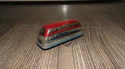 Régi lemezárugyári felhúzós busz kisautó -4-