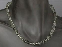 Praziolit / zöld ametiszt  drágaköves nyakék sterling ezüst /925/ zár 150ct !--új