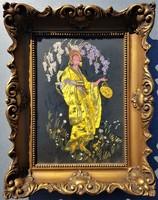 Blondel keret 25x35 cm belméretű, gobelinnel