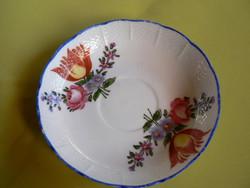 Antik Herendi tulipán mintás tányér, Fisher Mór korszak, 1850
