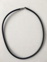 Ezüst kaucsuk nyaklánc jelzett 925
