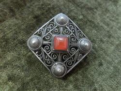 Art deco ezüst bross / kitűző
