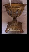 Barokk petróleum lámpa alj, tartó