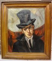 Tihanyi Lajos követője: Cilinderes férfi képmása