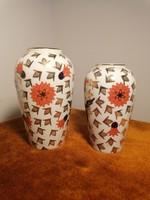 Zsolnay , két kis porcelán váza