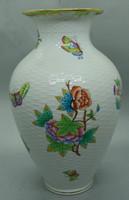 B295 Herendi viktória mintás fonott váza formaszám 6962 VBO - szép hibátlan gyűjtői darab