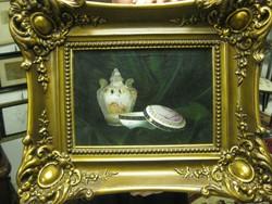 Ismeretlen mester: porcelán bonbonieres csendélet