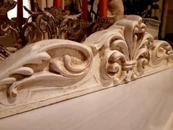 ÚJ! Shabby Chic Antique nagy méretű fali dekoráció vagy bútordísz fából 110x13 cm