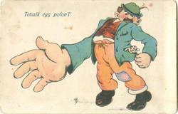 Tetszik egy pofon? Humoros rajzos képeslap