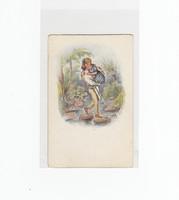 Szerelmes művészi képeslap postatiszta