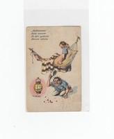 """Dworak matrózos humoros képeslap 1914 """"Az éjjeli gyakorlat"""""""