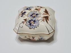 Zsolnay Búzavirág mintás bonbonier 7,5 x 7,5
