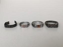 I. vh-s katonai emlék gyűrű 4 db