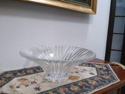 Óriás ólom kristály asztalközép gyümölcsös tál