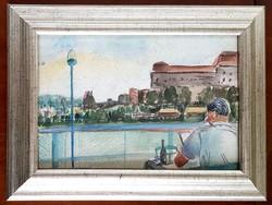 Márffy Ödön (1878 - 1959) - Hajókázás a Dunán