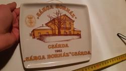 Extrém ritka hollóházi fali tányér