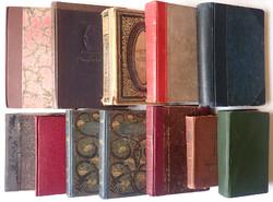 Régi antik 12 darabos vegyes könyvcsomag könyv csomag 1862-től