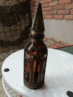 Díszes üveg palack