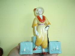 Antik fűszertartó porcelán  női figura