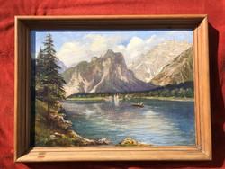 Antik tájkép festmény