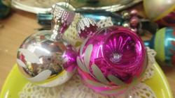 Karácsonyfadisz üveg, 2db soproni disz gömb