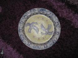 Régi,galambos kerámia tányér, 28cm, 89.