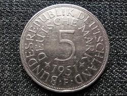 Németország NSZK (1949-1990) .625 ezüst 5 Márka 1951 F (id22960)