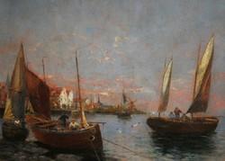Ismeretlen (Georg Fischhof?) 1900 körül : Halászbárkák