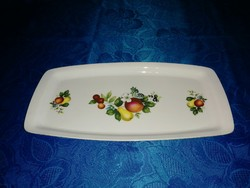 Alföldi porcelán gyümölcs mintás tálca (6p)