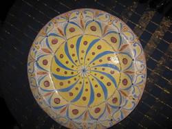 HATALMAS, régi, kerámia tál, tányér, 34 cm (33)