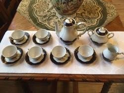 Zsolnay Pompadour III. kávés készlet