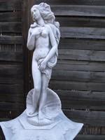 Vénusz születése kagyló Női Akt kő szobor 60cm Kastély kerti Fagyálló Műkő tömör művészi szobor