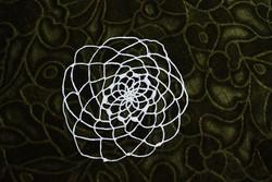 Horgolt csipke kézimunka lakástextil dekoráció kis méretű terítő 13 cm