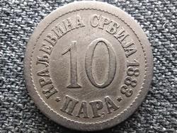Szerbia I. Milán (1882-1889) 10 Para 1883 (id45637)