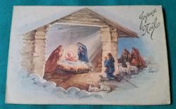 Régi francia vallási,karácsonyi képeslap