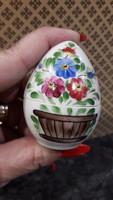 Porcelán tojás bonbonér kézzel festett