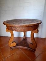 Biedermeier kisasztal, szalonasztal
