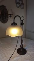 Antikolt,bronz asztali lámpa,banklámpa