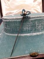 Türkizes antik tű  / kitűző / nyakkendőtű