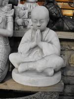 Szép ! Buddhista szerzetes Buddha  kő szobor Kültéri Fagyálló MűKő Feng Shui Japán kertépítő elem
