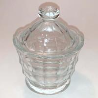 Üveg cukortartó - bonbonier - 14 cm