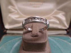 Brilles fehér arany férfi gyűrű