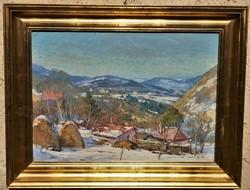 Halasi Horváth István (1904 - 1994) Zugliget... c .Képcsarnokos festmény 86x66cm EREDETI GARANCIÁVAL