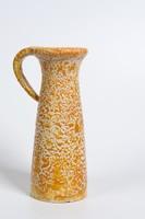 Csabai Margit (Gádor tanítványa) ritka iparművészeti fröcskölt mázas kerámia váza  18 cm