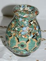 Francia kerámia mozaik váza.
