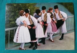 Kapuvári népviselet -  képeslap