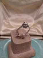 Fehér arany brilles szoliter gyűrű
